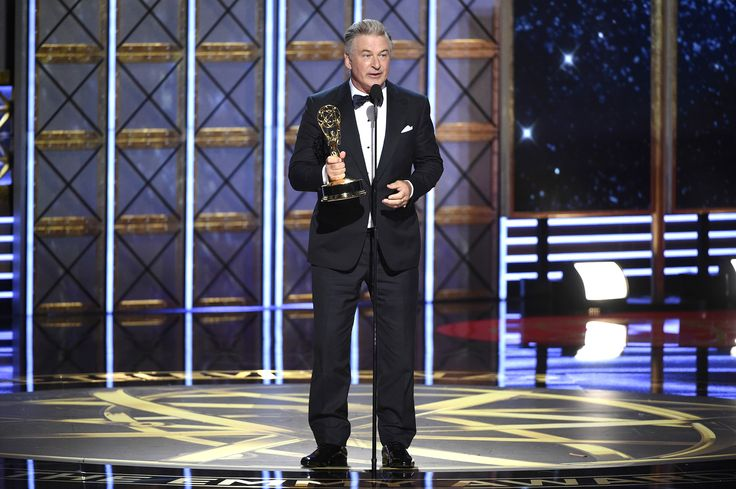 "Alec Baldwin Wins Emmy for Outstanding Supporting Actor in a Comedy Series: 'Mr. President, This Is Your Emmy'  This year's resident supporting funny man is Alec Baldwin. Baldwin is taking home the statuette for outstanding supporting actor in a comedy series at 2017 Emmy Awards, beating Louie Anderson of Baskets, Tituss Burgess of Unbreakable Kimmy Schmidt, Ty Burrell from Modern Family and Tony Hale and Matt Walsh of Veep.  ""I suppose I should say, at long last, Mr. President, here.."