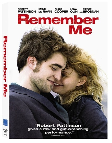 Remember me - Makes me cry, but such a good movie!!  Robert Pattinson's character was so ridiculously sexy in every way possible.