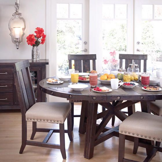 Very Game of Thrones style. The Ironside Extension Dining Table makes a statement.