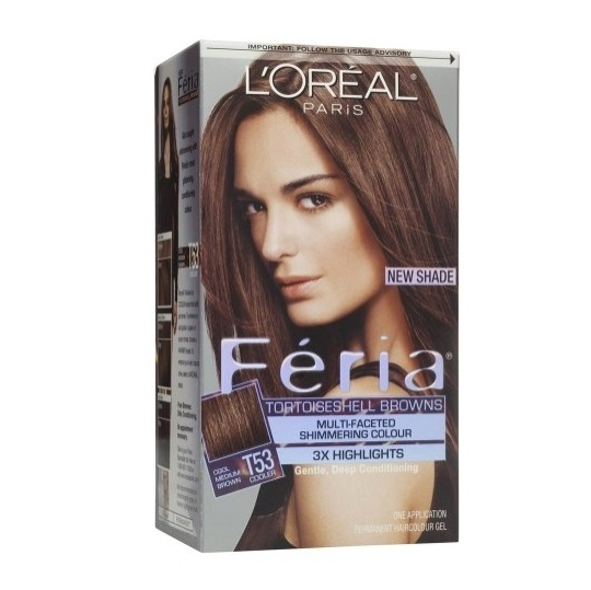 L'Oreal Feria Hair Color Moonlit Tortoise T53 the color I used tonight