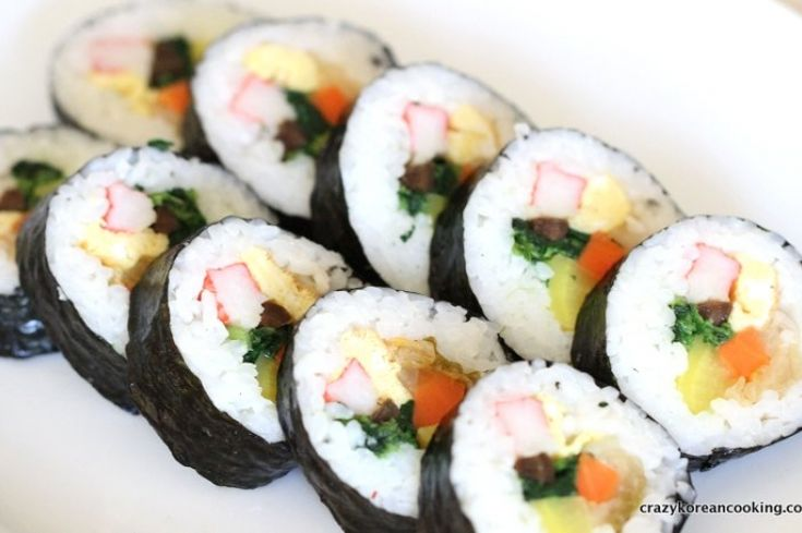 Gimbap Recipe 4: Kimchi Gimbap | Crazy Korean Cooking