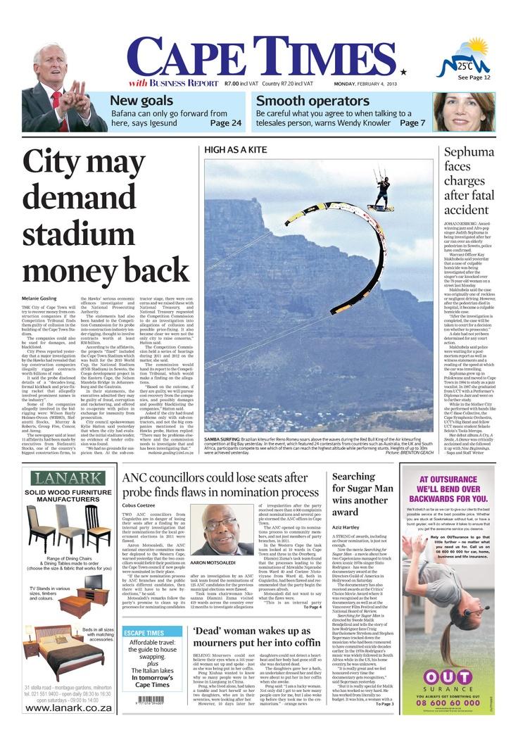 News making headlines: City demand stadium money back