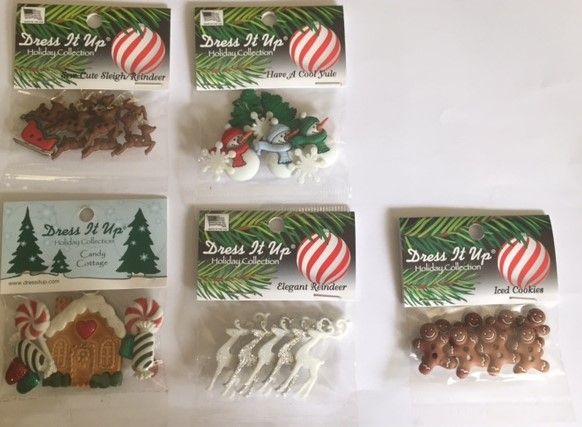 Christmas Button Bundle  $30 (inc postage) for 5 packs of buttons. You save $6