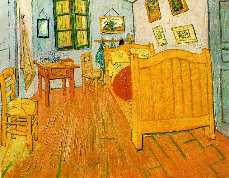 La stanza di van gogh ad arles vincent van gogh bed and art il letto e l 39 arte pinterest for La chambre jaune a arles van gogh