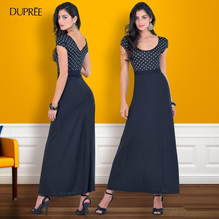 Los vestidos largos estilizan tu figura. Moda femenina Colombiana DUPREE