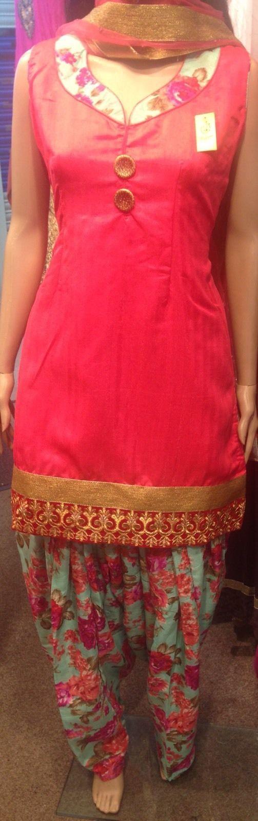 Patiala shalwar kameez Suit Floral new style one size plus stitched | eBay