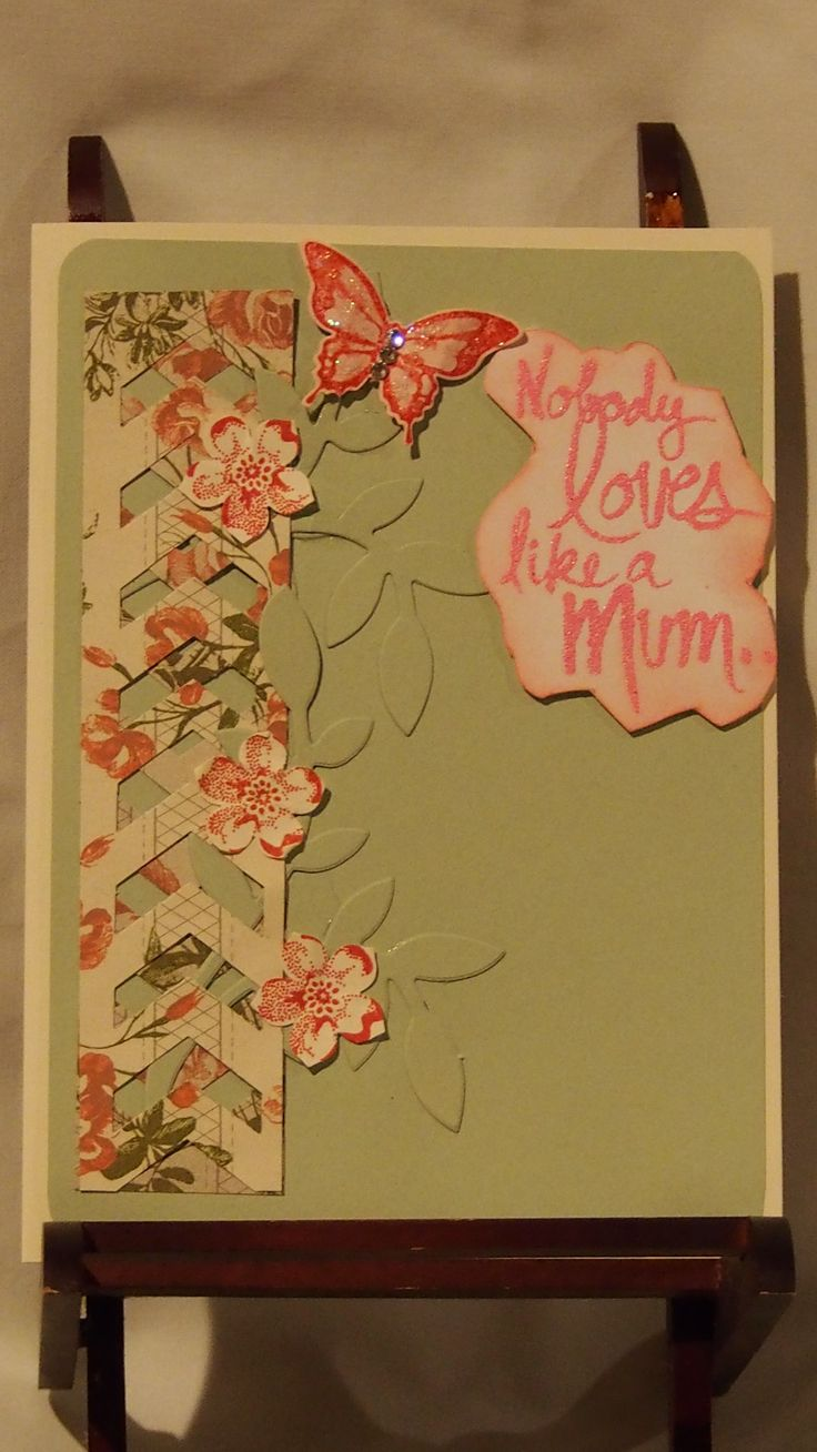 Ah this is a lattice card made with a chevron punch from Stampin ' UP.