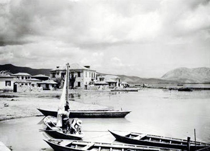 Δυτική Ελλάδα. Άποψη του Μεσσολογγίου με τη λιμνοθάλασσα, περ. 1903-1923