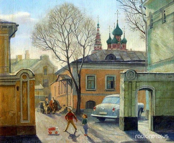 Старые московские дворики в картинах художника Филиппа Кубарева