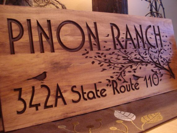 Rustic Wooden Ranch Cabin Address Sign Carved Address Plaque House Sign Personalized Sign Mothers Day Gift Fathers Day Benchmark Signs Home Wooden Signs Rustic Wooden House Signs Carved Wood Signs