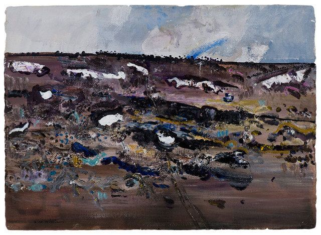 fred williams, Perisher Valley, 1975, gouache and synthetic polymer on arches paper, 55x77cm