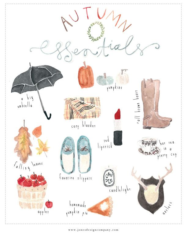 autumn essentials {freebie art print}