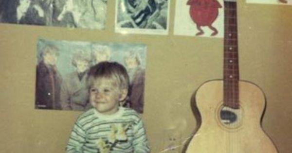 Nirvana front man Kurt Cobain as a child. #music