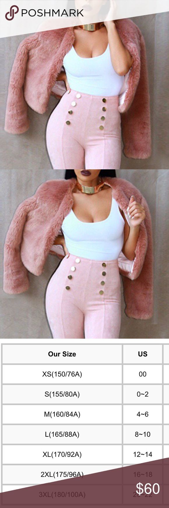 Pink Faux Fur Coat New, never used. Comes in many sizes. Currently being sold in my boutique in Miami. COMING SOON! IF YOU WANT TO BE NOTIFIED WHEN IT COMES IN, please let me know in the comments. Jackets & Coats