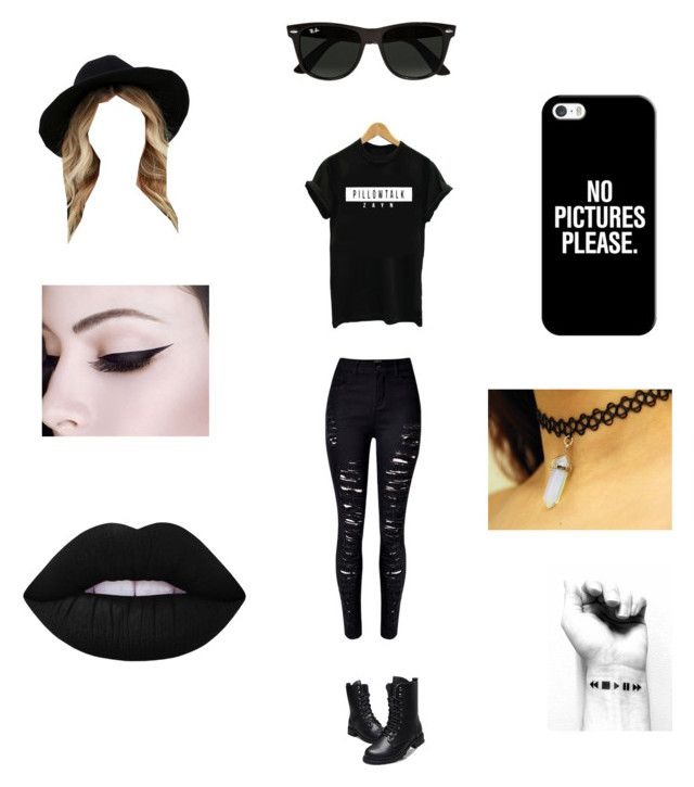 """""""Zayn Merch"""" by bruhitsbriannas on Polyvore featuring WithChic, RHYTHM, Ray-Ban, Casetify and Lime Crime"""