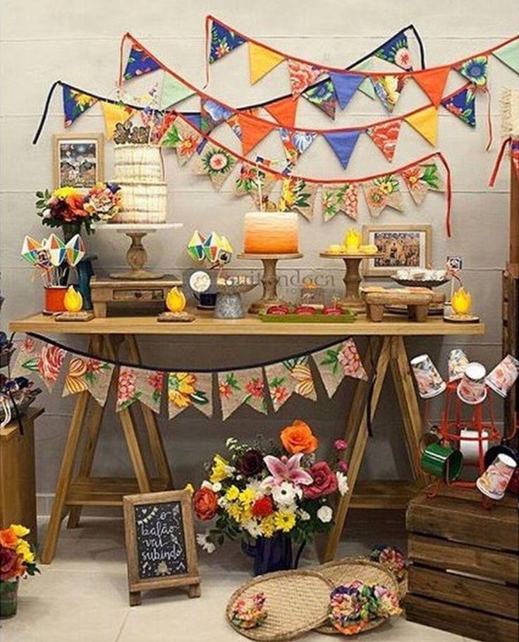 Decoração de festa junina. #festajunina #decor #decoração #party