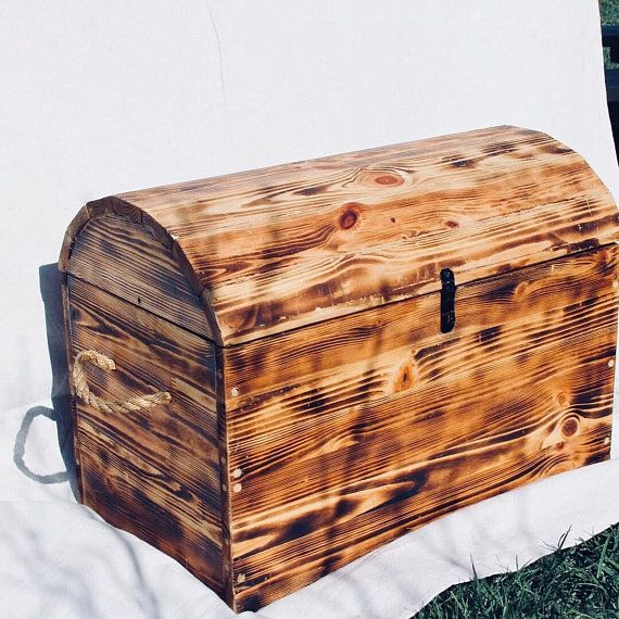 Treasure Chest Toy Box Pine Burnt Wood With Two Coats Of Satin Polyurethane Safety Latch Feature Installed Inside The Toy Toy Boxes Wood Toy Box Wooden Chest