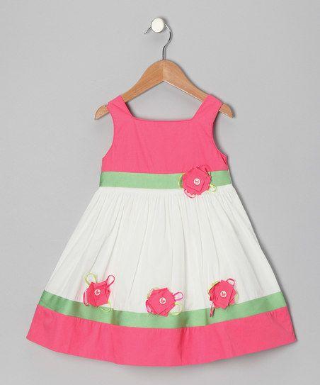 Ivory Flower Dress - Toddler & Girls   zulily