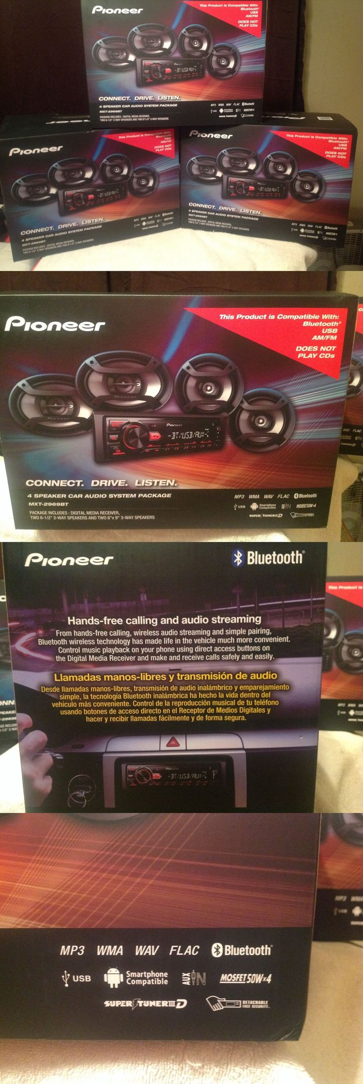 Vehicle Electronics And GPS: New Pioneer Bluetooth Car Stereo Receiver With 4 Speaker Aux Usb Mp3 Mxt-2969Bt BUY IT NOW ONLY: $85.96