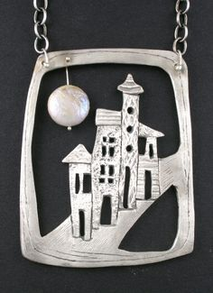Cool metal clay necklace.