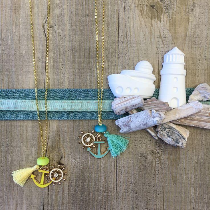 #duepuntihandmade #handmade #handmadewithlove #handmadejewelry #necklace #chain #sea #summer #waitinsummer #tassels #charms #anchor #timone #yellow #sun #blue #lightblue #colors #seacolors #greenwater #tiffanyblue