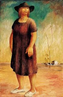 Russell Drysdale, Woman in a landscape