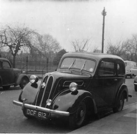 Geoff Nichols' first car, a Ford Anglia, in about 1964.