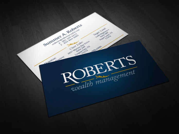 27 best business cards images on pinterest business card design roberts wealth business card by alphagraphics sugar land reheart Images