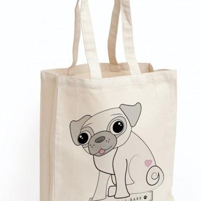 Treats a la Bark Pug Canvas Bag - Cotton