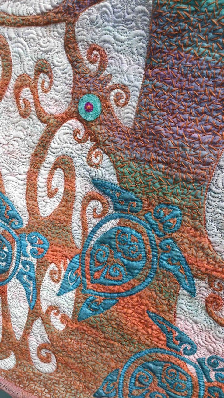 224 best Embroidery on quilts images on Pinterest