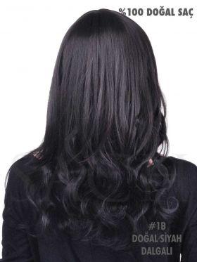 1B Doğal Siyah Dalgalı Çıt Çıt Saç Seti