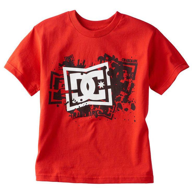 DC Shirt Boys Medium NEW NWT Pinch Tee Red DC Shoe Company Top T-Shirt Kids M #DCShoes #Everyday