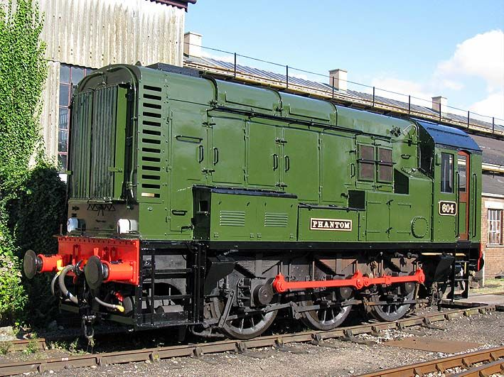 """British Rail Class 08 - 08604 """"Phantom"""" - 08 604 was shedded at Tyseley near Birmingham where a certain Simon Grego was a fitter, the engine became well known as it had been painted in full BR lined out green. She was purchased from BR and the owner was looking for a place to keep it. Enter once again Simon, he organised the engine to be loaned to the GWS and brought to Didcot. Once at Didcot she required an extensive overhaul. One of the wheelsets had to be exchanged and the traction motor…"""