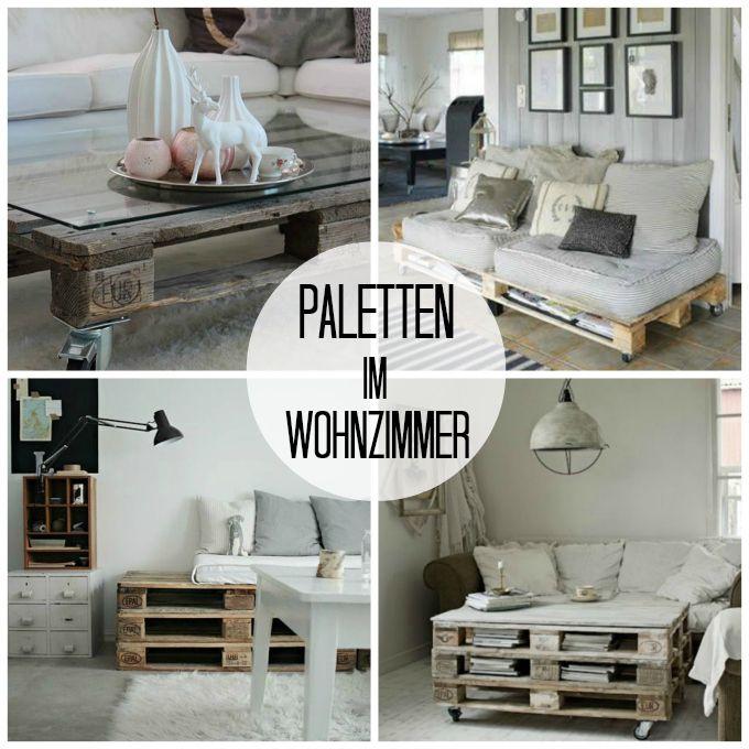 Dekoidee palette möbel im wohnzimmer wohnideen