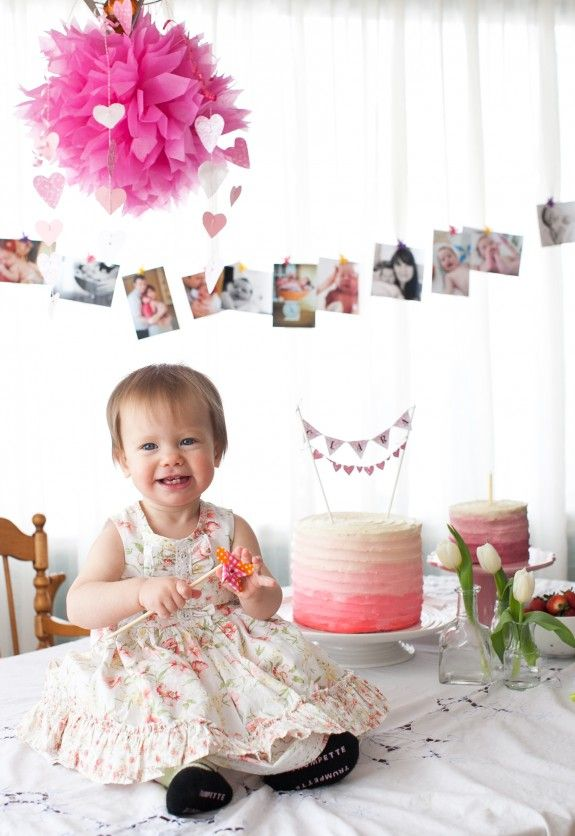 First birthday ideas including a naturally sweetened apple spice cake for the little birthday girl