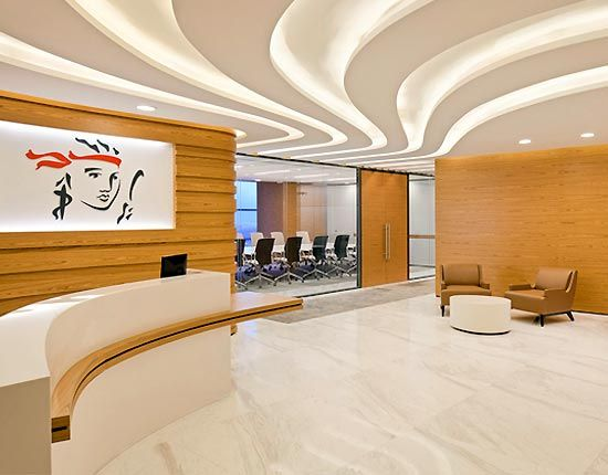 Lighting office reception interior design office design for New interior lighting