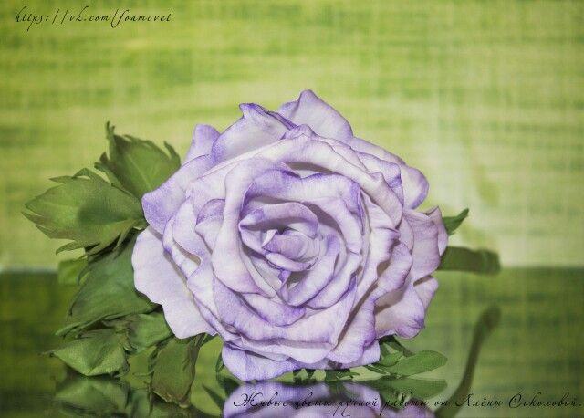 """Ободок """" Сиреневая роза"""" фоамиран ручная работа #фоамиран #розы #роза #ободоксцветами #ободок #ручнаяработа #handmade #roses #summer #happy"""