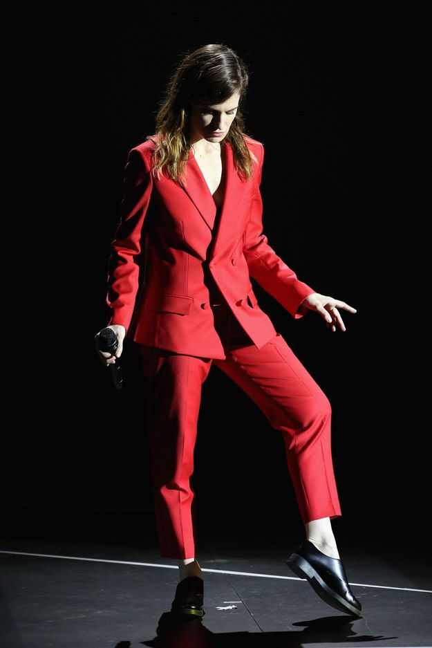 This red suit Christine and the Queens performed in at this year's Victoires de la Musique in Paris.