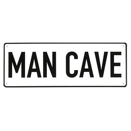 Man Cave Licence Plate Metal Sign