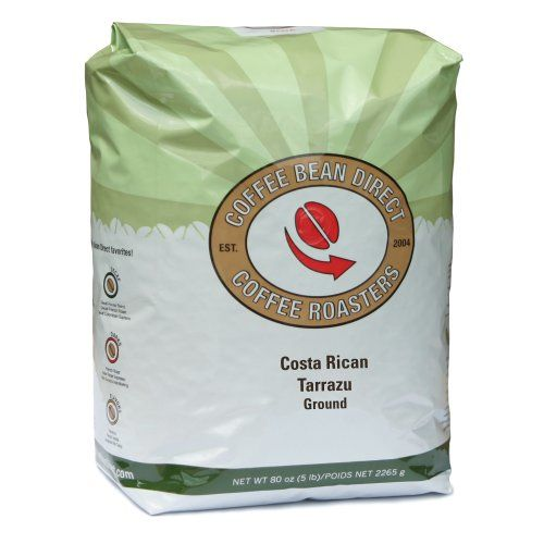 Coffee Bean Direct Costa Rican Tarrazu, Ground Coffee, 80-Ounce Bag - http://www.freeshippingcoffee.com/brands/coffee-bean-direct/coffee-bean-direct-costa-rican-tarrazu-ground-coffee-80-ounce-bag-13/ - #CoffeeBeanDirect
