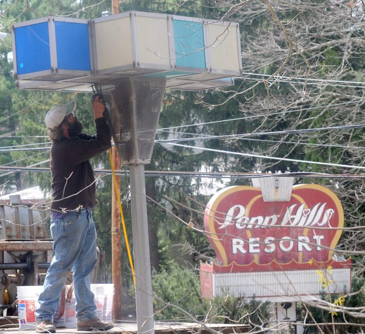 After years of sitting on the Penn Hills Resort property in Stroud Township, the colorful cubical World's Fair lights are headed to a new home.The