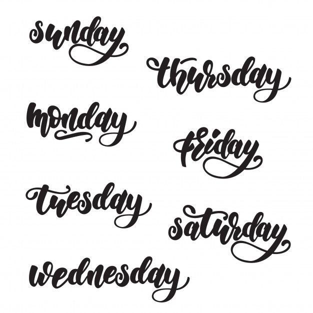 Dias Da Semana Lettering Design Projetos De Letra Dias Da