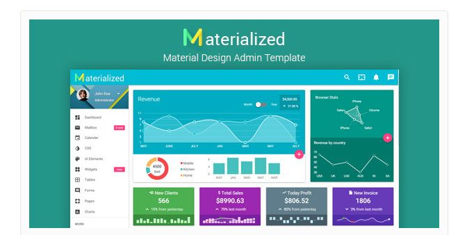 12 Best Material Design Admin Templates