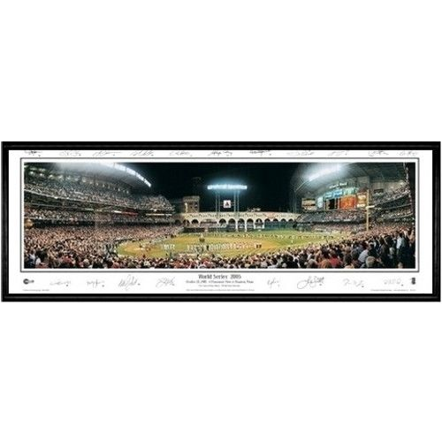 Houston Astros World Series 2005 13.5 x39 Standard Black Frame