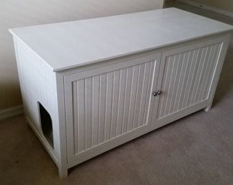 enclosed litter bench | ... Free, Custom, Hand Made in USA, Wood Cat Litter Box Cabinet. Not MDF