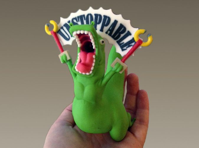 Unstoppable T-Rex. This should be my graduation present for when I finish my masters. It will have pride of place on my desk. assuming new graduates get desks, or jobs. Basically, this is occupational therapy.