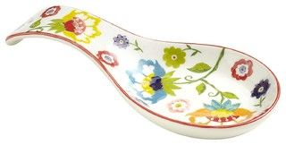 Floral Spoon Rest - contemporary - kitchen products - by Pier 1 Imports