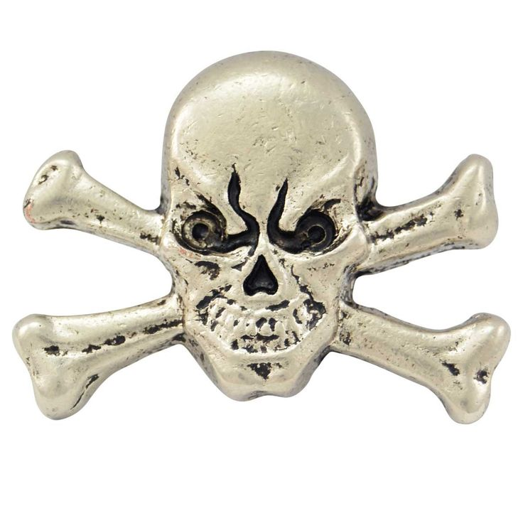 Skull And Crossbones Metal Badge