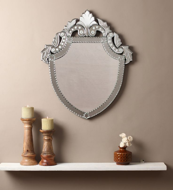 Arda Silver MDF Mirror #mirrors #mirror #reflectors #show #pinit #pinterest #shazliving Shop at: https://www.shazliving.com/