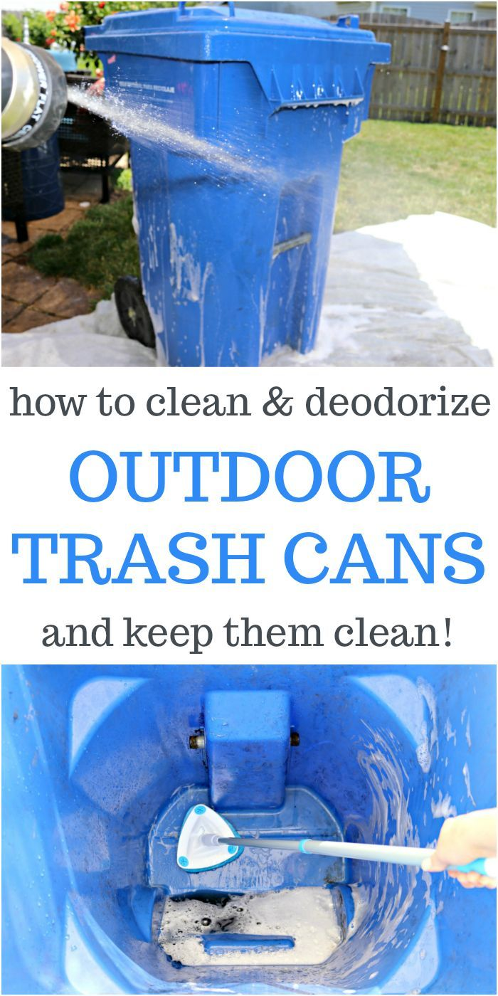 How to Clean and Deodorize Outdoor Garbage Cans and Keep Them Clean Includes step-by-step instructions on how to clean your garbage bins without getting dirty yourself. Video included! via @Mom4Real